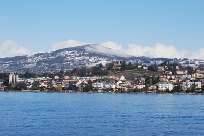 View of Montreux - from across the lake