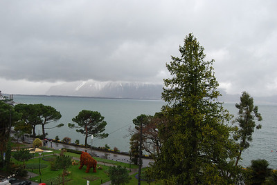 Cloudy day in Montreux
