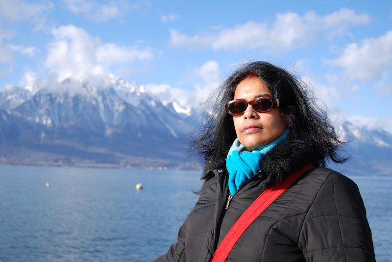 Montreux - Maitreyee & mountains