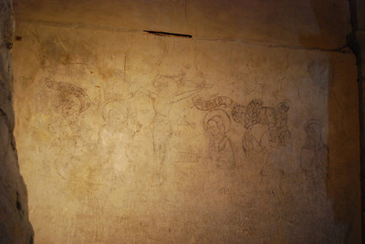 Chillon Castle - crucifixion on wall