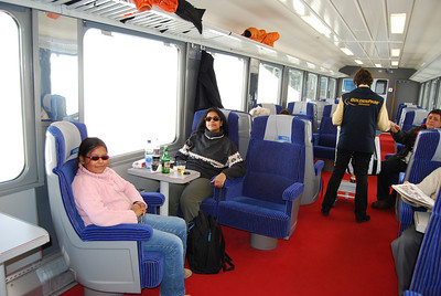 On board the GoldenPass train