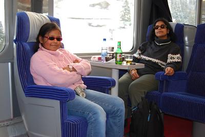 Aboard the GoldenPass train