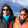 Maitreyee & Sohini on the lake shore in Montreux