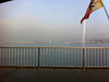 La Rade, Genève, brouilliard, fog, the jet d'eau.<br /> <br /> Takin quickly out the car window with the iPhone.