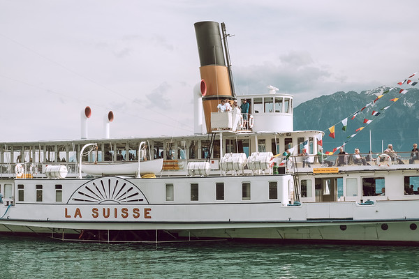 La Suisse steamer boat from CGN