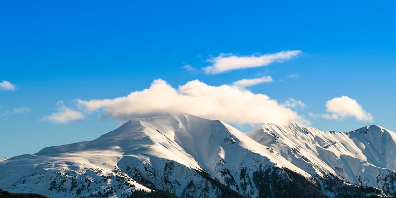 Cloudy mountaintops