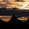 Silhouette mountains