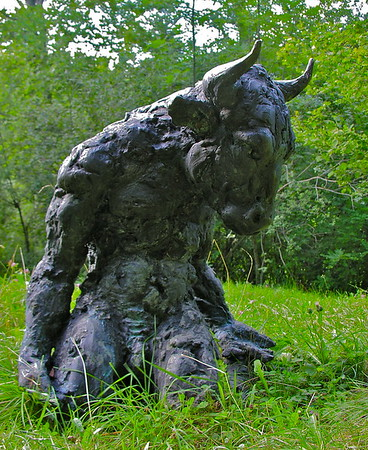 Crouching Minotaur by Nicola Hicks