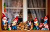 Gnomes on the windowsill - Murren, Switzerland