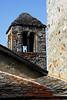 Bell tower and roof tiles - San Gian Church - Celerina, Switzerland