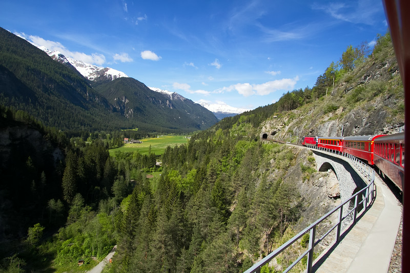 View on board the Glacier Express