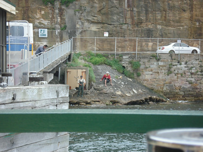 Fishermen by Sydney zoo