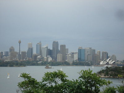 Sydney CBD and opera house