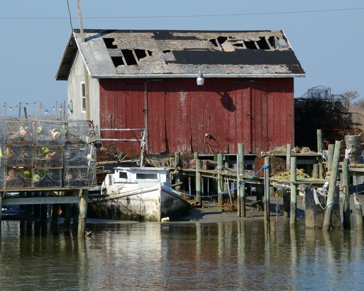 One of many crab shacks on the island.