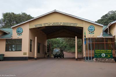Entrance to Ngorongoro Conservation area