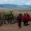 Maasai village in Ngorongoro Conservation Area, Tanzania 恩戈罗恩戈罗保护区的马赛人部落
