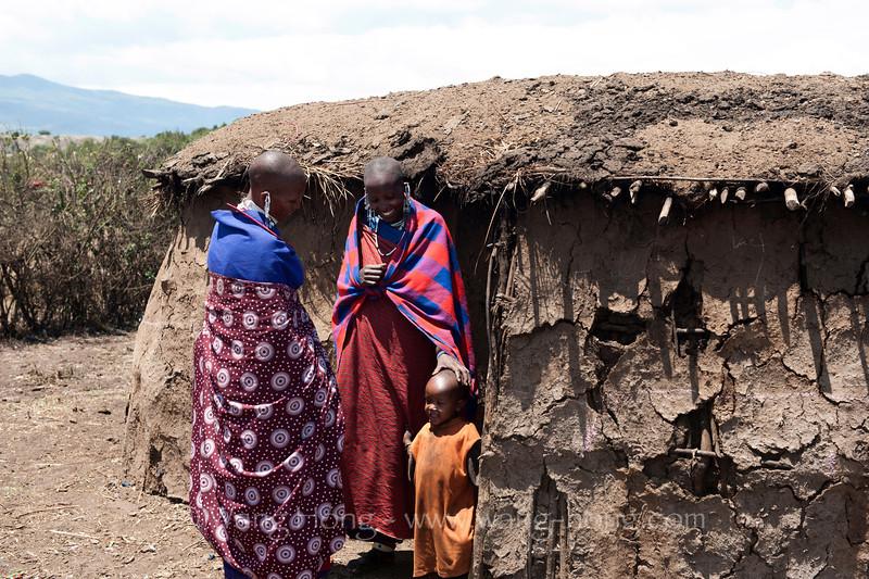Maasai village in Ngorongoro Conservation Area in Tanzania 恩戈罗恩戈罗保护区的马赛部落