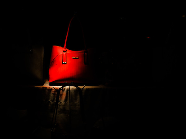 Red Bag in Window