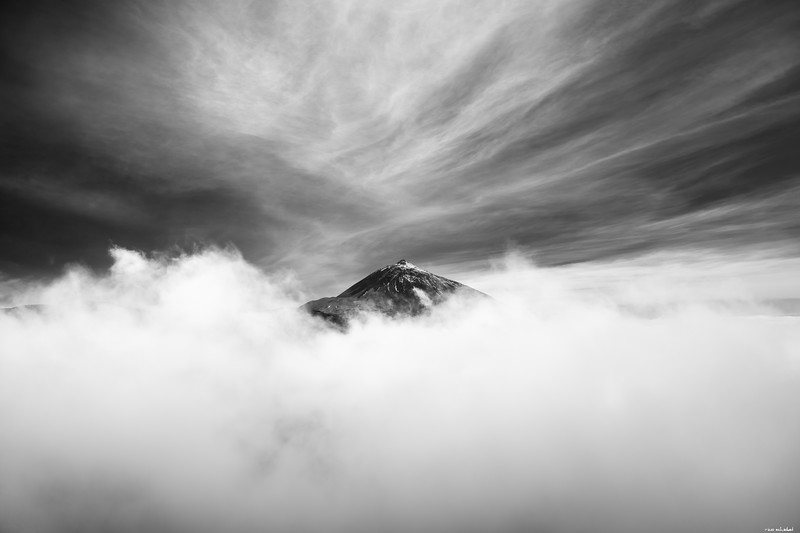 Engulfed in clouds