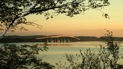 Highway 79 Bridge at sunset, Paris Landing, TN