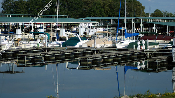 Sep 21, 2007 - Reflections of the Paris Landing Marina on Kentucky Lake.