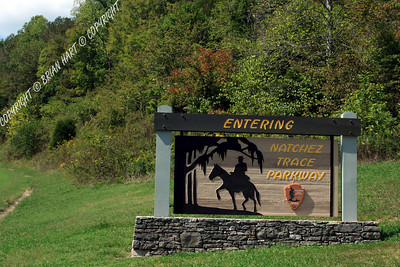 The Natchez Trace Parkway Entrance sign