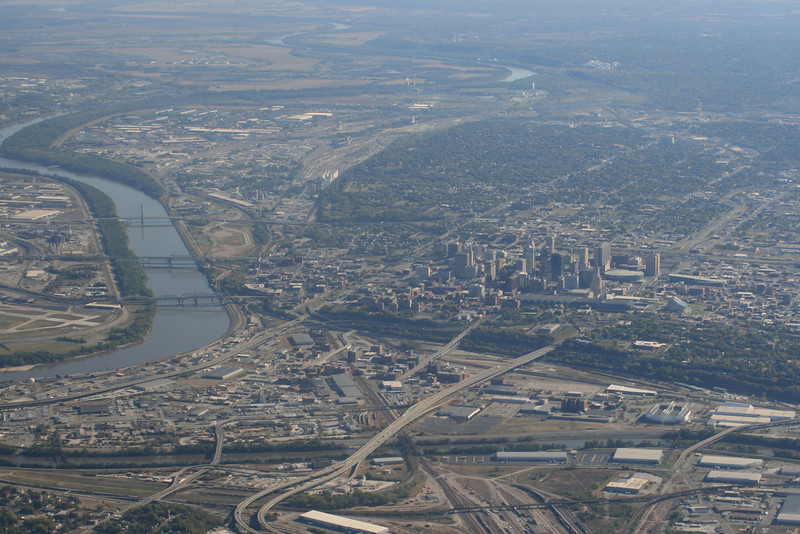 On the way to Texas, going by Downtown Kansas City