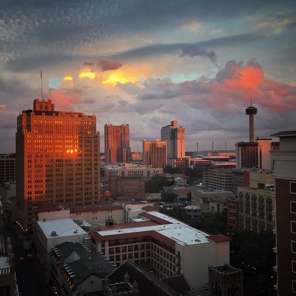 Sunset in San Antonio, Texas