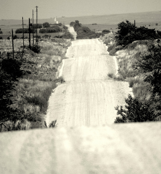 Farm Road (no longer exists) to Magic City (no longer exists), Texas. This was the memorable 15 miles of dirt road from I-40 to grandma's house (no longer exists).