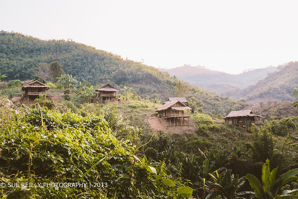 """The """"Bamboo Nest"""" - 5 self-contained bamboo units in the North Thailand highlands. We stayed here for 3 days."""