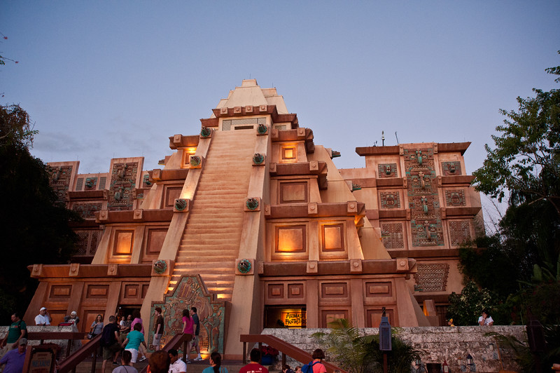 Architecture in Epcot's Mexico.