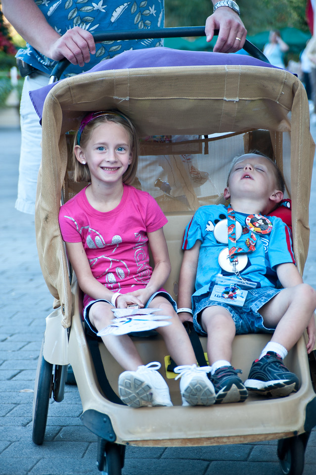 Madison and Matthew in Epcot.