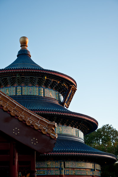 Architecture in Epcot's China.