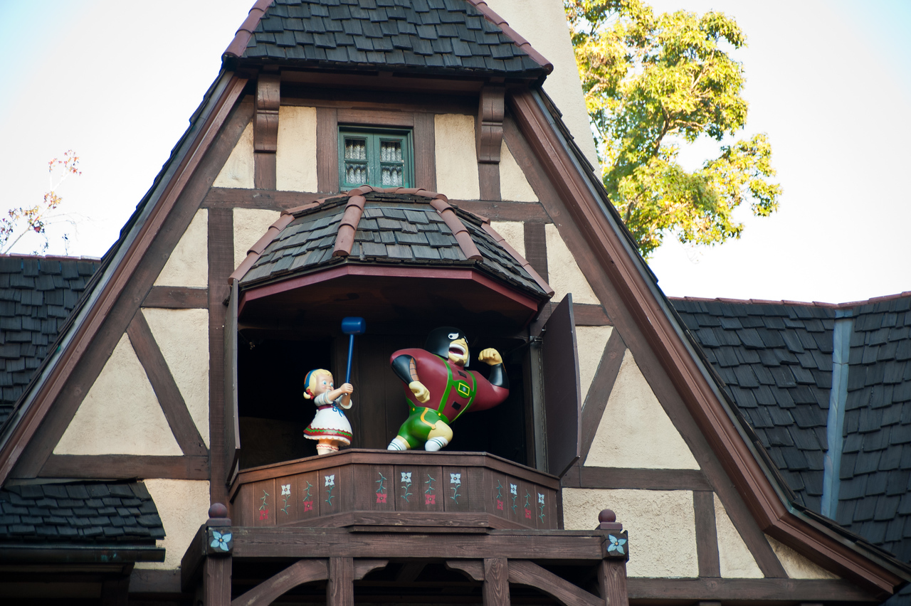 Architecture in Epcot's Germany.