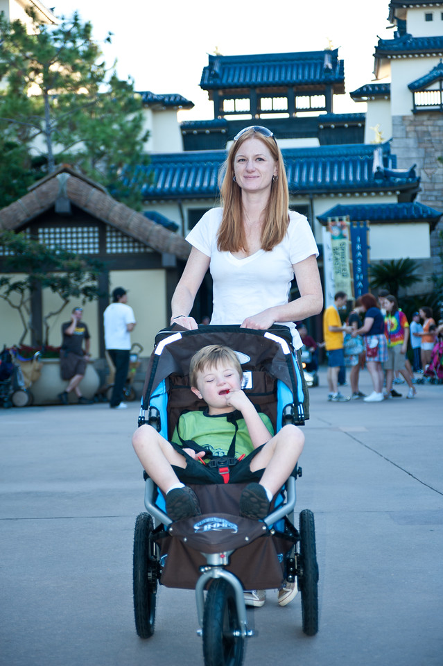 Marisa and Vincent in Epcot's Japan.