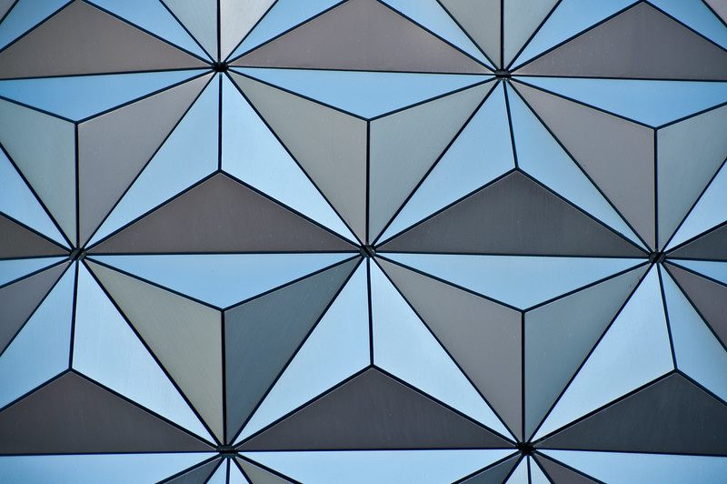 The Spaceship Earth ball at Epcot.