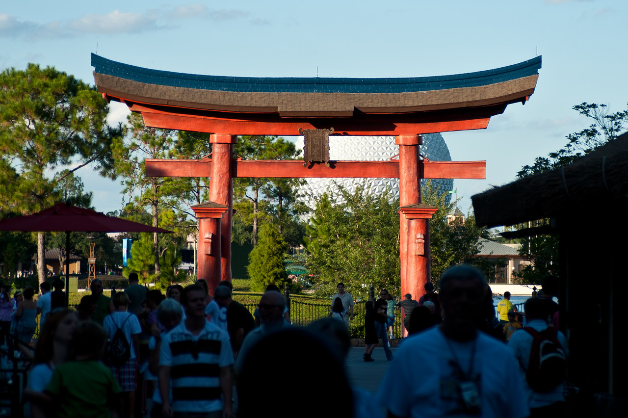 Architecture in Epcot's Japan.
