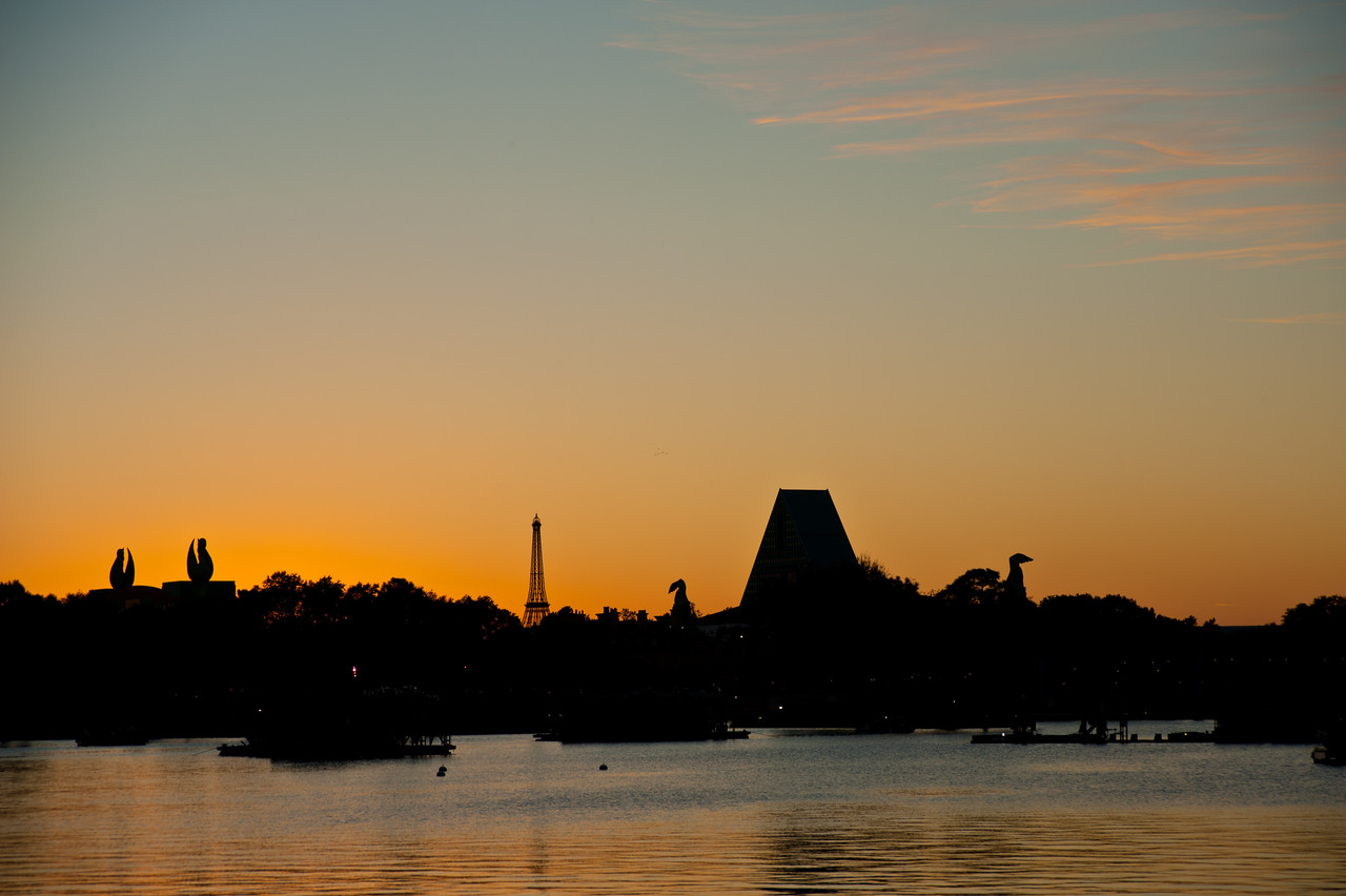 Sunset view from Epcot