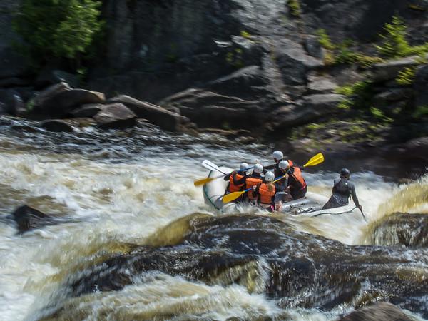 Wahite water rafting