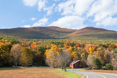 Country Scene, Catskills in Fall Colors.
