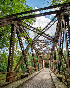 Rail Trail bridge near New Paltz, NY.