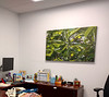8-13-17.  Stopped at Kathy's new office to hang pictures (mom's) on her bare walls.