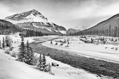 Sunwapta River and Tangle Ridge, Jasper National Park