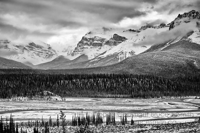 Howse Valley view, Banff National Park, along the Icefields Parkway