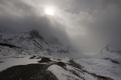 Columbia Icefields in winter