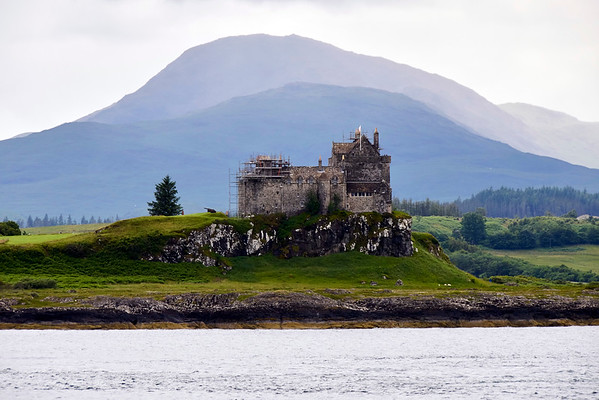 Duart Castle, one of the first sights you see approaching Craignure.