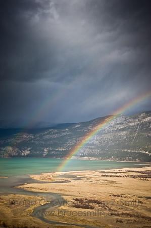 Double Rainbow over Columbia Lake