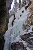 Ice climbing in Maligne Canyon near Jasper, Alberta.