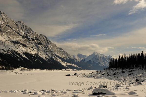 Medicine Lake, Jasper National Park in winter