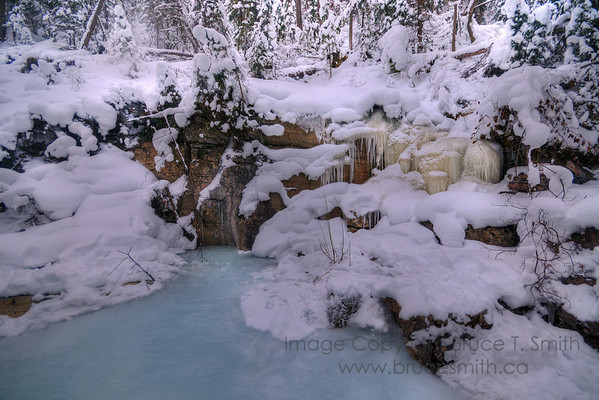 Maligne Canyon Ice near Jasper Alberta